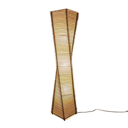 Lampe sur Pied Lampadaires Lampadaire en rotin chinois moderne Creative Salon Étude Chambre Hôtel Rotin de bambou Asie du sud-est Lampes Lampadaires Luminaires intérieur (Color : Natural)