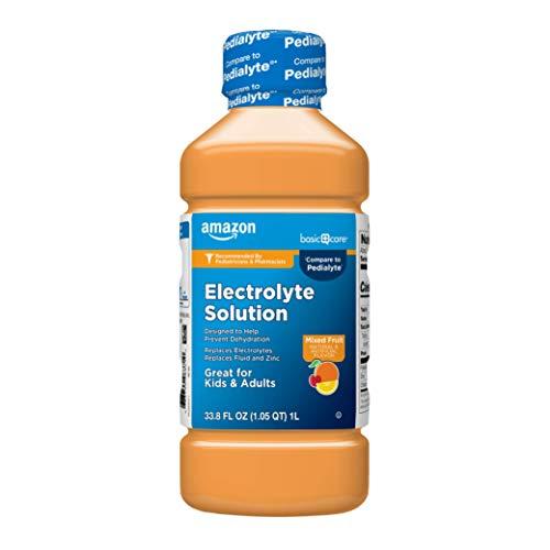 Amazon Basic Care Electrolyte Solution, Mixed Fruit, 33.8 Fl Oz