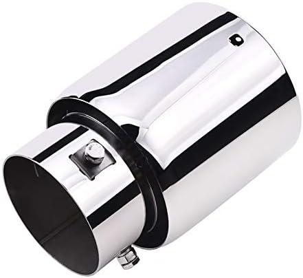 Color : Silver LLZER De Escape de autom/óviles autom/ático de Acero Inoxidable Consejos de Tubo de Escape Car Styling Colas Silenciador//Ajuste for la mayor/ía de los Coches