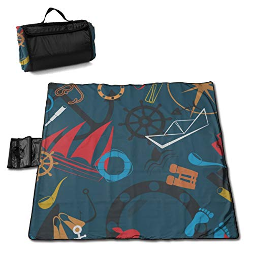 Purchase LDSWIMMING Picnic Mat 57 X 59inches Animals and Ship Sand Proof Mat Camping Hiking Festival...