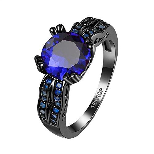 HFJ&YI&H Anello di fidanzamento diamante CZ placcato zircone gioielli di nozze per le donne , 7