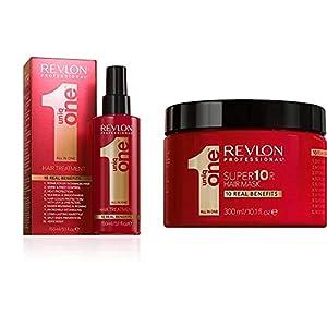 Revlon Professional UniqOne Classico Tratamiento en Spray para Cabello 150 ml + Super10R Mascarilla Capillar 300 ml