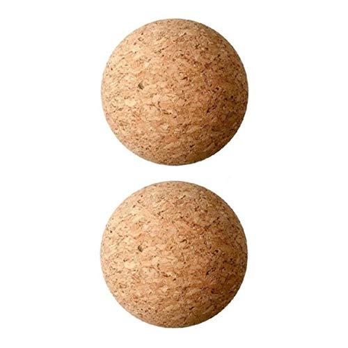 Kaxofang TapóN de Bola de Corcho de Madera de 2 Piezas para Vino, TapóN de Bola de Corcho para Jarra de Vino Reemplazo de Botella de Garrafa 2,1 Pulgadas / 5,5 Cm