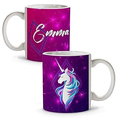 Taza Unicornio Personalizada con Nombre/Texto. Regalos Frikis Personalizados. Tazas Personalizadas de Cerámica. Varios Diseños y Colores de Interior. Unicorn
