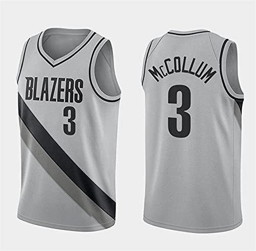 WSWZ Camisetas De Baloncesto De La NBA - Blazers NBA 3# C.J. Mccollum Camiseta De Hombre - Chalecos Cómodos Casuales Camisetas Deportivas Camisetas Sin Mangas,B,L(175~180CM/75~85KG)