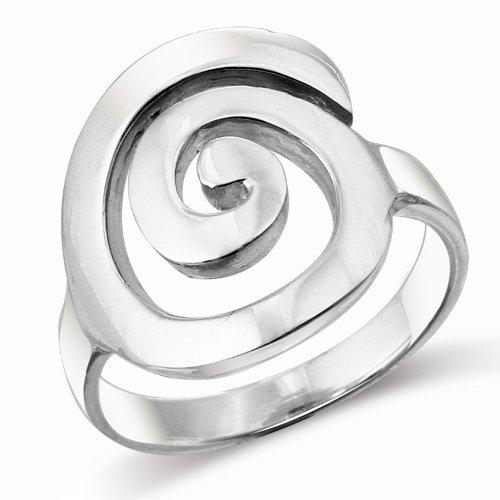 Mimi Sterling Silver Large Open Celtic Swirl Ring (8.5)