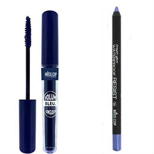 Kit Mascara Volume Bleu + Crayon Yeux Etanche bleu