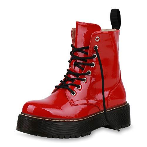 SCARPE VITA Dames Laarzen Plateau Laarzen Schilderen Schoenen Veters Laarzen Boots-Met-Veters Zool Veters En