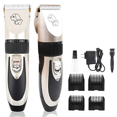MC.PIG Pet Professional Hair Clipper-Electric Fader Dog Shaver Afneembare messen Draadloze oplaadbare, Pet Clipper Kit, voor honden, katten en andere dieren