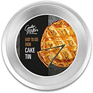 St@llion Round 24cm Baking Tin - Non-Stick Steel Ideal for Cakes, Pies, Quiches & Tarts