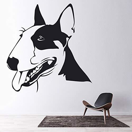 Tianpengyuanshuai Huisdier muur sticker bulldog hond huisdier winkel woonkamer huisdecoratie vinyl raam sticker schattig huisdier muurschildering verwijderbaar