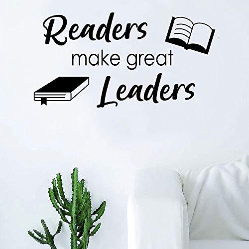 Leser von Wandtattoos machen Führer inspirierende Zitate Vinyl Aufkleber Schüler Klassenzimmer Bibliothek Lesesaal Dekoration Wandaufkleber42x40cm