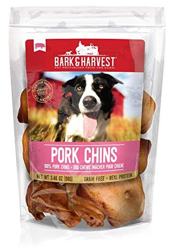 Superior Farms Pet Provisions Bark & Harvest Pork Chins 6 ct, 3.46 oz Bag (13011)
