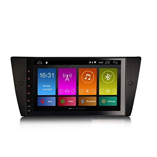 ERISIN 9 Pulgadas Android 10.0 Autoradio para Serie 3 E90 E91 E92 E93 Soporte de Audio GPS Sat Nav Bluetooth WiFi 4G Dab + RDS Enlace Espejo TPMS CarPlay Amplificador DSP Incorporado