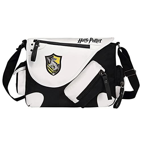 QLma Harry Potter Mochila escolar Unisex Lona Messenger Bag Universidad / Ocio / Viaje / Senderismo Bolso de hombro 35x26x11cm Negro-H