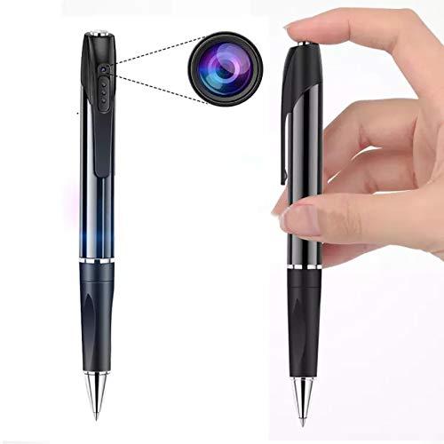 Bolígrafo Pen cámara espía Oculta Profesional 1080HD, grabadora de Voz Audio e vídeo. Mini cámaras de Bolsillo con detección de Movimiento , visión Nocturna.
