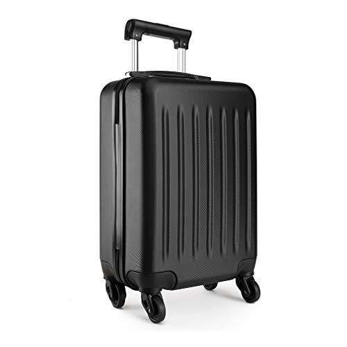 Kono 19 Inch Hard Shell Hand Luggage Suitcases with 4 Spinner Wheels Lightweight Cabin Carry-on Small Travel Trolley Case(19', Black)