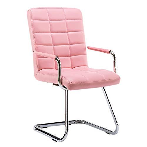 Stoel met rugleuning met armleuningen, eetkamerstoel, computerkruk, eenvoudige moderne stijl, bureau, thuis, eettafel, kruk, slaapzaal, A+ 15 grids roze