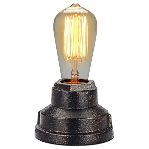 Lámpara De Mesa Lámpara De Escritorio Vintage Pequeña Luz Industrial Mesita De Noche Regulable Lámpara De Mesita De Noche Luz De Noche Retro para Sala De Estar