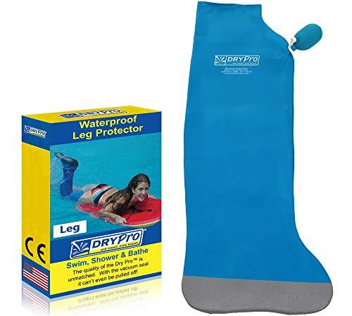DryPro Waterproof Vacuum Sealed Full Leg Cast Cover, Large