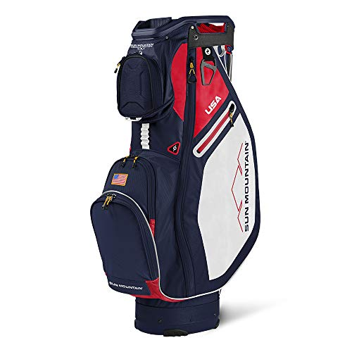 Sun Mountain Sync Cart Bag 2021 - Navy/White/RED