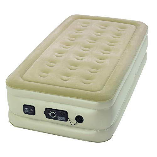 Serta Raised Twin Airbed with NeverFlat Pump, Beige (ST840016)