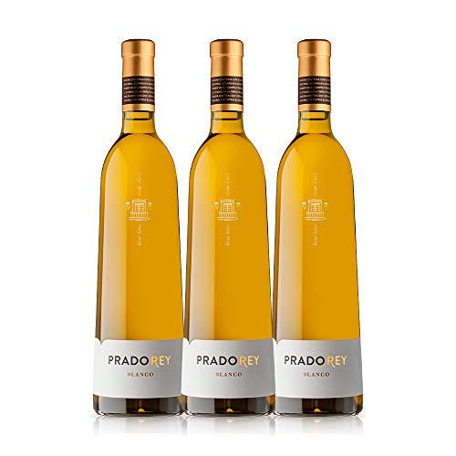 PRADOREY Blanco - Vino blanco - Verdejo - Multivarietal - Vino de la tierra de Catilla y León - Vendimia Nocturna - 3 Botellas - 0,75 L