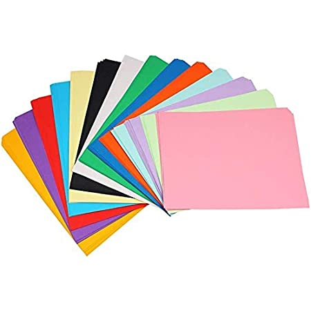 SNOW CRAFTS A4 Size Premium Coloured Paper/Sheets For Art & Craft Projects School Colleges (Pack of 50 Sheets)