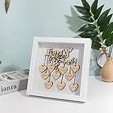 Marco de árbol familiar con corazón personalizado Nombre familiar personalizado enmarcado Regalo de Navidad para abuelos Regalo de árbol familiar con corazón de madera para el día de la madre