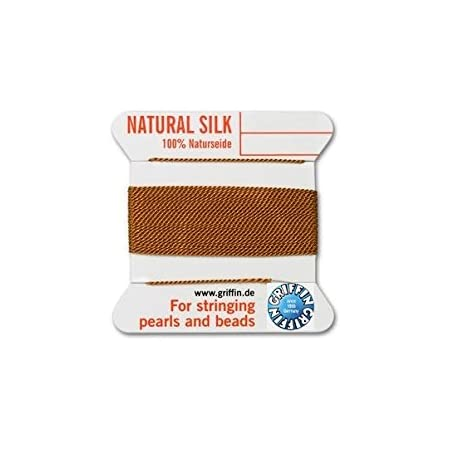 Cornelian Soie String Thread 0.70 mm pour Enfilage Perles /& perles Griffin Taille 6