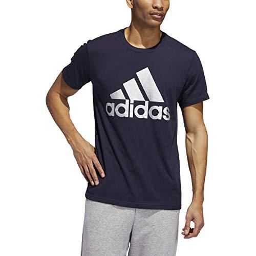 adidas Badge of Sport Camiseta masculina estampada, Lgnd Ink/Slvr, Small