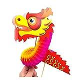 Kit de ocio creativo para niños y adultos – Feng Shui Zen – DIY Dragon 3D – Pack de 4 juegos