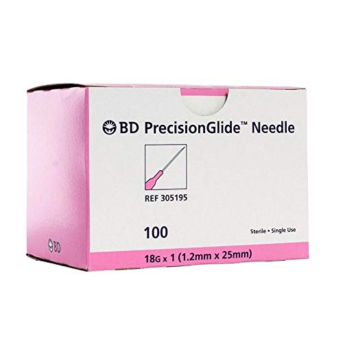 Disposable Sterile 100Pack (18G-1IN/25mm)