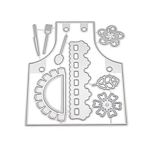 ZChun schort metaal stansvormen sjabloon DIY scrapbooking album stempel papier kaart reliëf handwerk decor