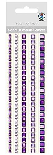 Ursus 75030005 - Schmuckstein Sticker Bordüren, quadratisch, violet