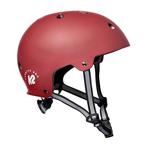 K2 Skates Unisex– Erwachsene VARSITY PRO Helm, red, M (55-58cm)