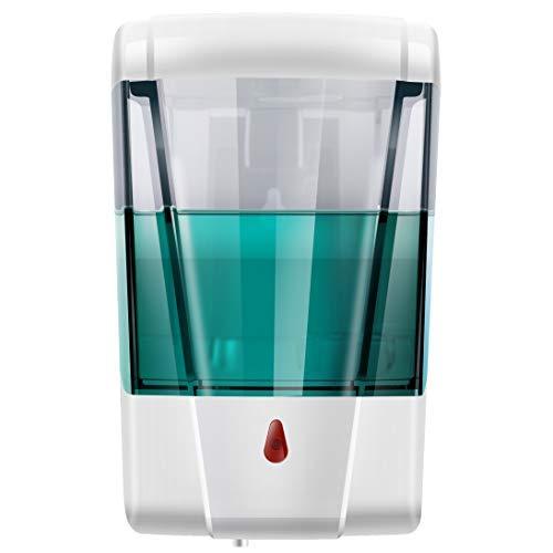 StillCool Dispensador de jabón, 700 ml, montaje en pared, automático, sensor de líquido, bomba desinfectante de manos para cocina/baño