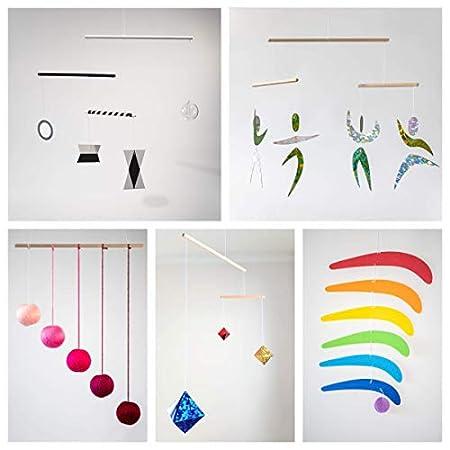 5 Montessori Mobiles als Set