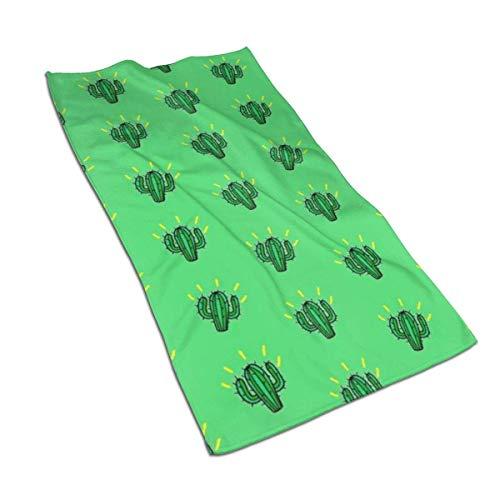 637 Toallas De Baño Fondo Verde Cactus Suculentas De Secado Rápido 80X130Cm Hotel Ultra Suave Único Unisex Toalla De Playa Personalizado Toalla De Piscina Toallas De Baño Sá