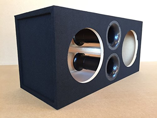 "Custom Ported/Vented Sub Box Subwoofer Enclosure for 2 12"" American Bass XFL Subs - 32 Hz - 4"" Aeroports - 4.6 CU FT"