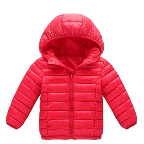 Allegorly Jungen Mädchen Winter Warm Sweatjacke Winterkind Kinder Einfarbige Hoodie-Reißverschlussmäntel Halten Jackenkleidung