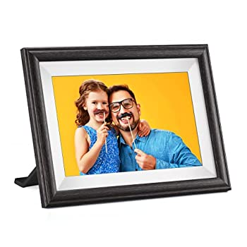 WiFi Digital Picture Frame Pastigio 10.1  HD Wooden Digital Photo Frame with Delicate LCD Display 16GB Storage Auto-Rotate Instant Share Photos and Videos via App Email Cloud from Anywhere