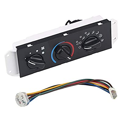 WATERWICH Compatible with HVAC Climate Control Module Heater A/C AC Air Conditioning Control Switch Panel Jeep Wrangler 1999-2004 4.0L-L6