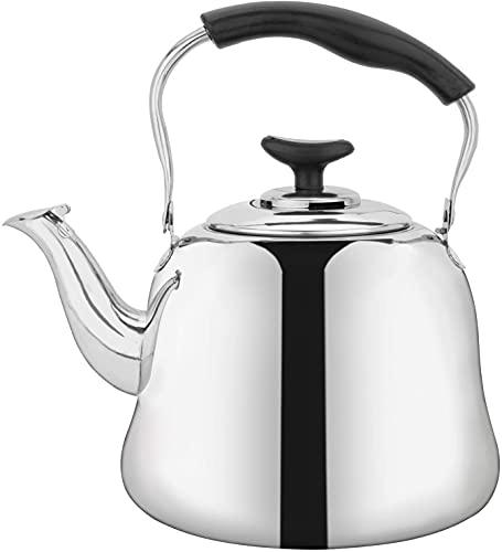Yesland 2 Liter Edelstahl Teekessel mit Sieb, Pfeifender Teekessel mit Filter, Teekanne mit Kühlem...