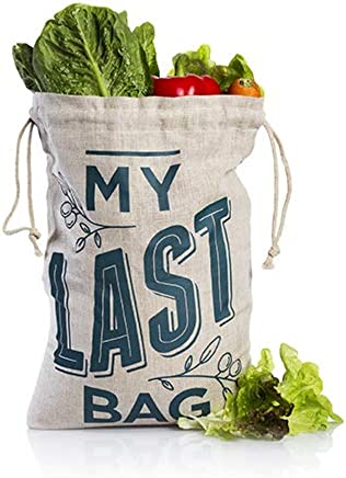 Veggie Bag - Reusable Fruit and Vegetable Storage Bag - Made From Hemp - Keeps Food Crisp And Fresh - Plastic Free - Eco Friendly