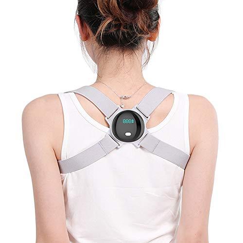Yzbtj Corrector De Postura Inteligente, Enderezador De Espalda Superior Ajustable con Recordatorio De Vibración Inteligente, Recordatorio Electrónico De Postura para Adultos/Niños
