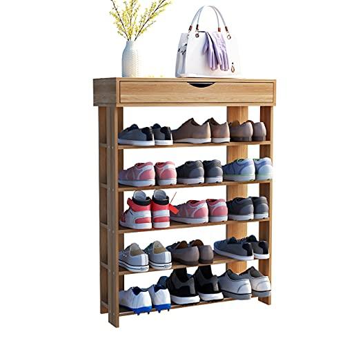 tall shoe storages Soges 5-Tier Shoe Rack 29.5 inches Wooden Shoe Storage Shelf Shoe Organizer, Teak L24-XTK