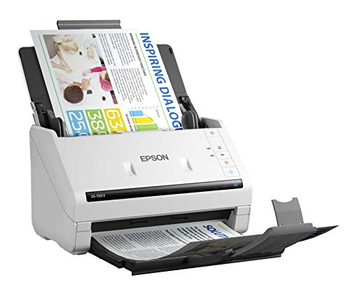 Epson DS-530 II Color Duplex Document Scanner for PC and Mac with Sheet-fed, Auto Document Feeder (ADF)