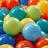 KiddyMoon 100 ∅ 7Cm Kinder Bälle Spielbälle Für Bällebad Baby Plastikbälle Made In EU,...