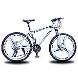 T-Day Bicicleta Montaña Bici De Montaña para Hombre De 26 Pulgadas con Freno De Disco Dual 21/24/27 -Speed con Suspensión Delantera(Size:27 Speed,Color:Azul)